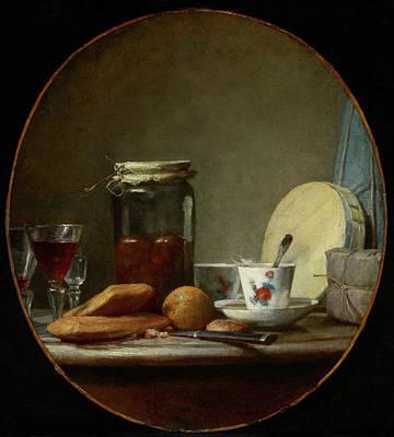 Painting - Jar Of Apricots by Jean-Baptiste-Simeon Chardin