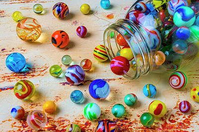 Photograph - Jar Of Childhood Marbles by Garry Gay