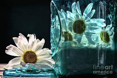 Canning Jar Photograph - Jar Of Daisies by Sari Sauls