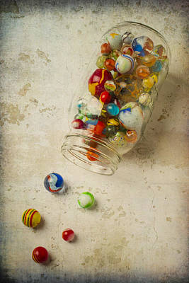 Photograph - Jar Of Slipt Marbles by Garry Gay
