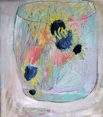 Painting - Jar Of Sunflowers by Brooke Wandall
