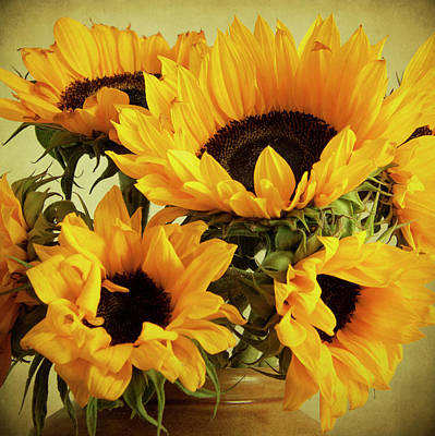 Photograph - Jar Of Sunflowers by Ethiriel Photography