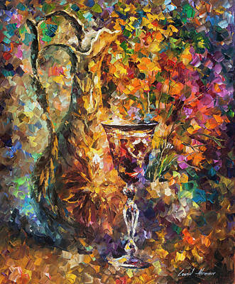 Painting -  Jar Of Wine by Leonid Afremov