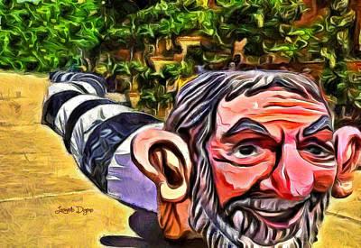 Snakes Painting - Jarareco by Leonardo Digenio