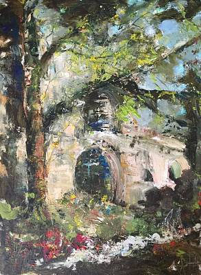 Painting - Jardin D'au Paradis  by Robin Miller-Bookhout
