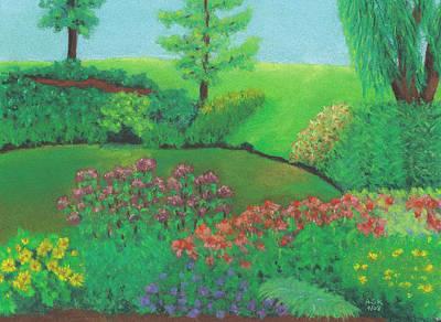 Pastel - Jardin De Juillet by Anne Katzeff