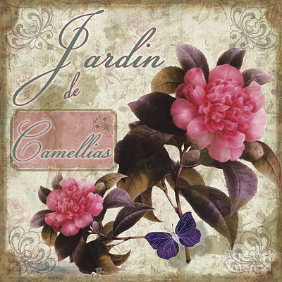 Jardin De Roses Art Print by Mindy Sommers