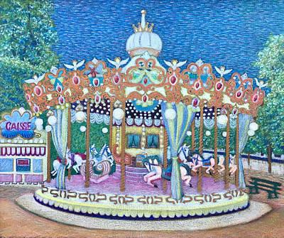 Jardin Des Tuileries Carrousel Original