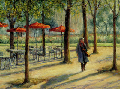 Jardin Des Tuileries In October Art Print