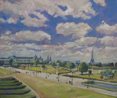 Painting - Jardin Des Tuileries Paris by Nop Briex