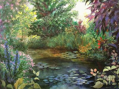 Painting - Jardin Giverny by Madeleine Holzberg