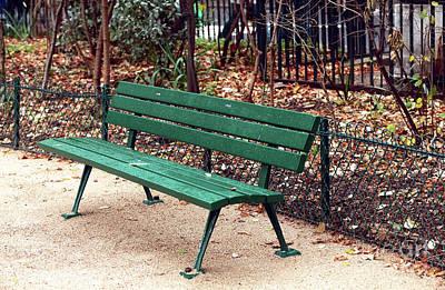 Photograph - Jardin Medieval Bench by John Rizzuto