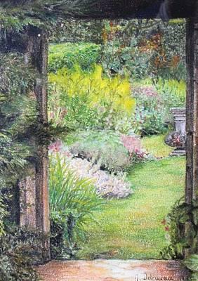 Jardin Art Print by Muriel Dolemieux