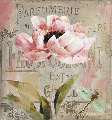 Jardin Rouge I Print by Mindy Sommers