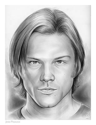 Cities Drawings - Jared Padalecki by Greg Joens
