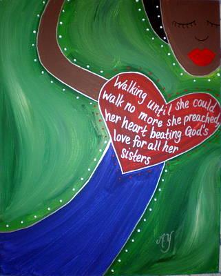 Painting - Jarena Lee by Angela Yarber