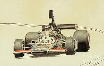 Benetton Wall Art - Drawing - Jarier Shadow Dn5 by Lorenzo Benetton