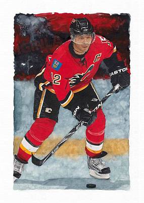 Calgary Flames Painting - Jarome Iginla by Glen Green