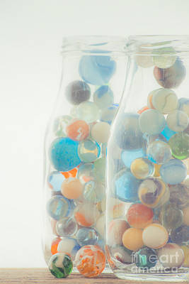 Window Sill Photograph - Jars Full Of Marbles by Edward Fielding