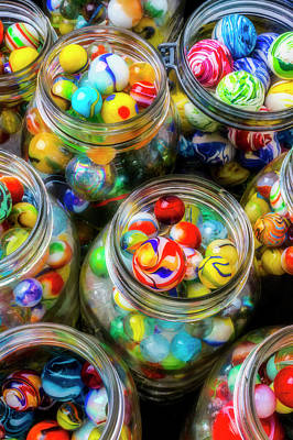 Photograph - Jars Full Of Marbles by Garry Gay