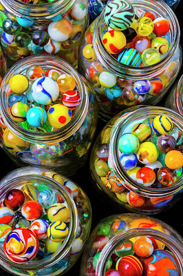 Photograph - Jars Full Of Pretty Marbles by Garry Gay