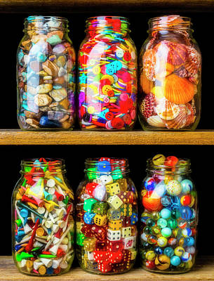 Photograph - Jars On A Shelf by Garry Gay