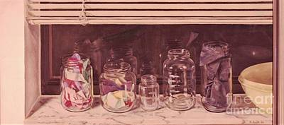 Painting - Jars On Windowsil by Suzn Art Memorial