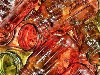 Photograph - Jars by Rachel Hannah