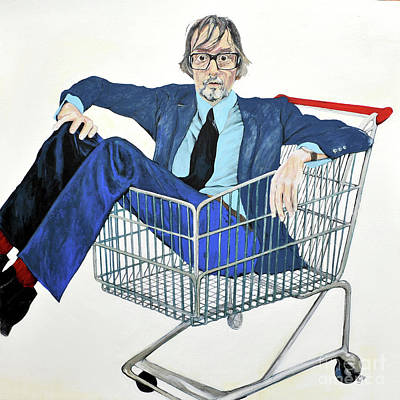 Painting - Jarvis Cocker 'off Yer Trolley' by Michelle Deyna-Hayward