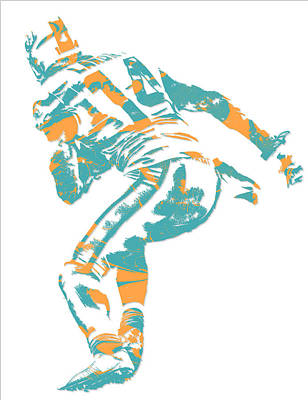Dolphin Mixed Media - Jarvis Landry Miami Dolphins Pixel Art 6 by Joe Hamilton