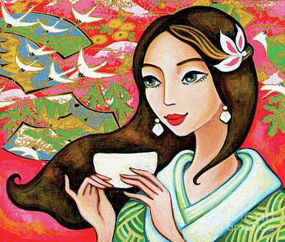 Painting - Jasmine Garden by Eva Campbell