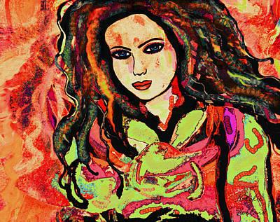 Mixed Media - Jasmine by Natalie Holland