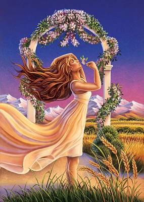 Painting - Jasmine - Sensual Pleasure by Anne Wertheim