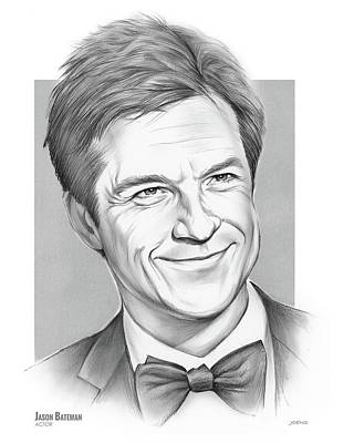 Celebrity Watercolors - Jason Bateman by Greg Joens