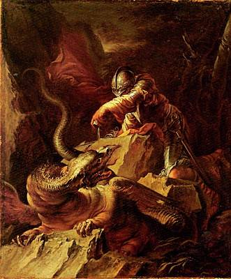 Painting - Jason Charming The Dragon by Salvator Rosa