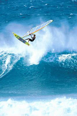 Jason Day Photograph - Jason Flies Over A Wave by Erik Aeder - Printscapes