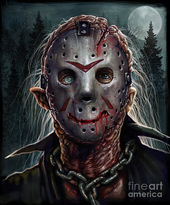 Digital Art - Jason - Friday The 13th by Andre Koekemoer