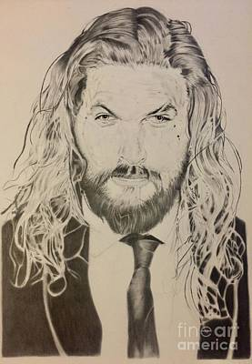 Justice League Drawing - Jason Mamoa by Stephon Wright