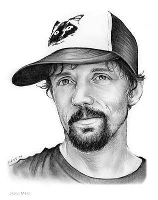 Musicians Drawings - Jason Mraz by Greg Joens