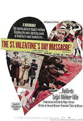 Jason Robards As Al Capone Theatrical Poster The St. Valentines Day Massacre 1967  Art Print