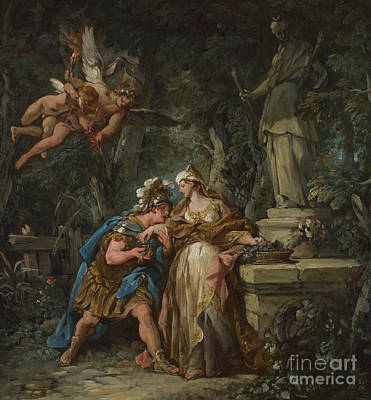 Painting - Jason Swearing Eternal Affection To Medea by Jean Francois de Troy