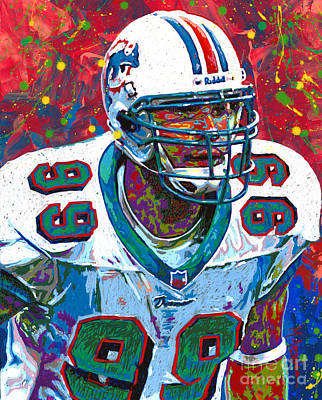 Jason Taylor Art Print by Maria Arango
