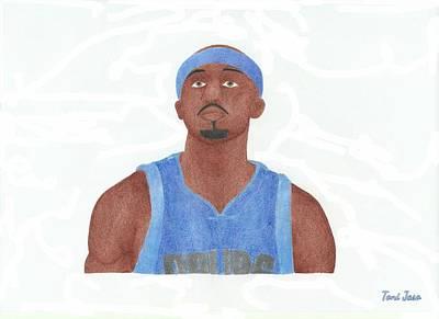 Dallas Drawing - Jason Terry by Toni Jaso