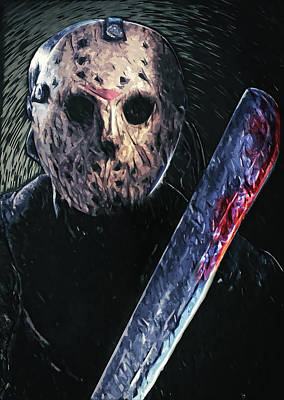 Hockey Art Digital Art - Jason Voorhees by Taylan Apukovska