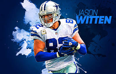 Dolphins Digital Art - Jason Witten by Semih Yurdabak