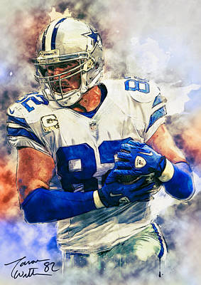Football Paintings - Jason Witten by Zapista