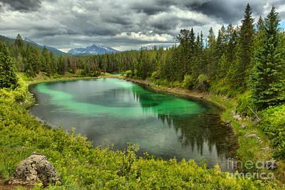 Photograph - Jasper Bullseye Lake by Adam Jewell
