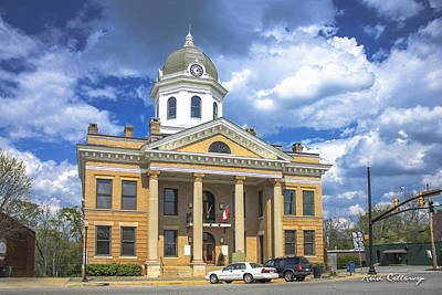 Photograph - Jasper County Court House Monticello Georgia by Reid Callaway