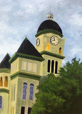Painting - Jasper County Courthouse by Dustin Miller