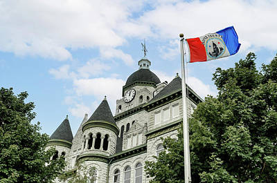 Photograph - Jasper County Courthouse by James Barber